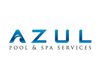Azul Pool & Spa Services logo design