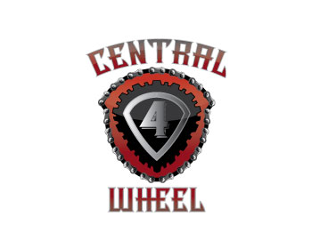 Central 4 Wheel Drive logo design