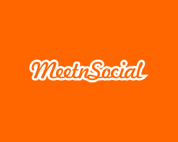 MeetnSocial logo design