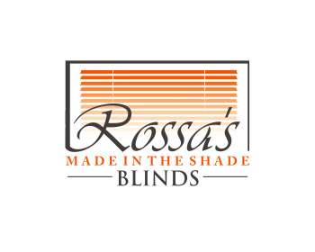 Logo design for Rossa's Made In The Shade Blinds