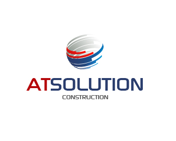 AT- SOLUTION logo design