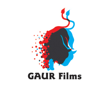 Gaur Films logo design