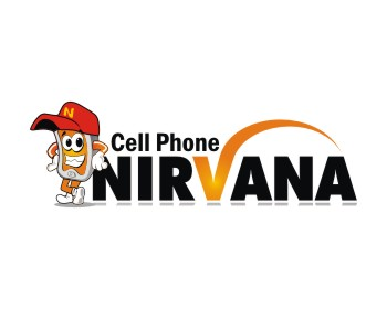 Cell Phone Nirvana logo design