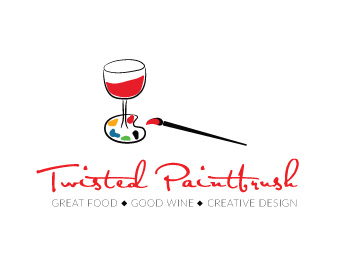 Twisted paintbrush logo design