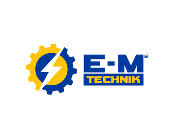 E-M Technik logo design