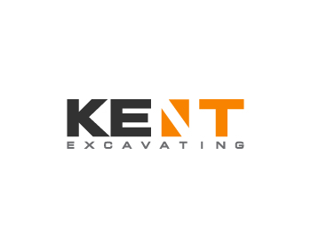 Kent Excavating logo design