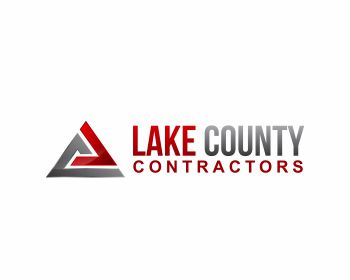 Lake County Contractors logo design