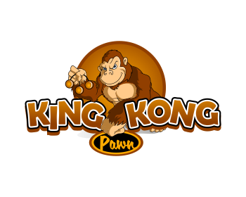 King Kong Pawn logo design