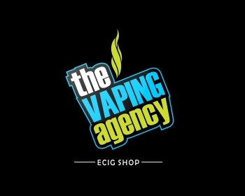 the vaping agency ecig shop logo design