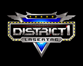 DISTRICT 1 Lasertag logo design