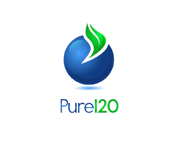 Pure120 logo design
