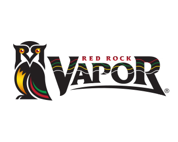 Red Rock Vapor logo design