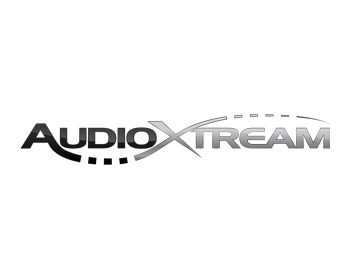 AudioXtream logo design
