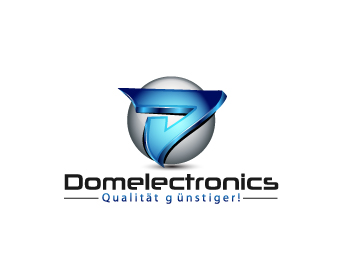 Domelectronics logo design