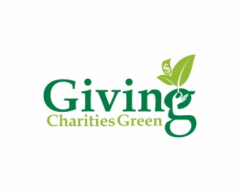 Giving Charities Green logo design