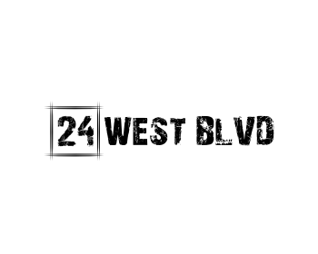 24 West Blvd logo design