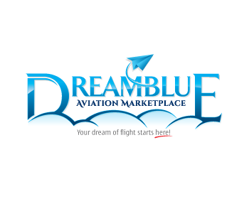Logo design for DreamBlue Aviation Marketplace