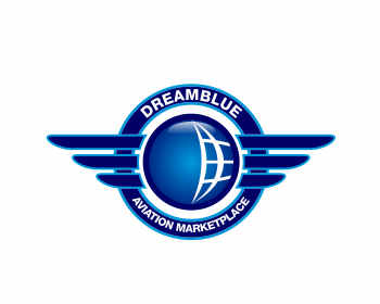 DreamBlue Aviation Marketplace logo design