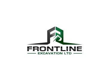 Frontline Excavation Ltd. logo design