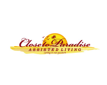 Close to Paradise Assisted Living logo design