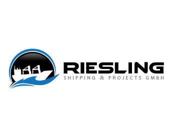 Riesling Shipping & Projects GmbH logo design