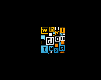 whatdoitext.com logo design