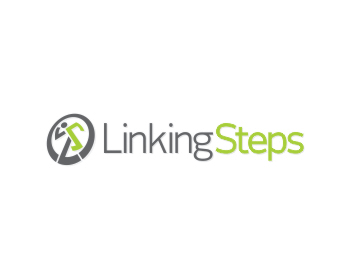 Linking Steps logo design