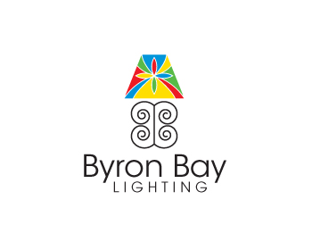 Byron bay lighting logo design