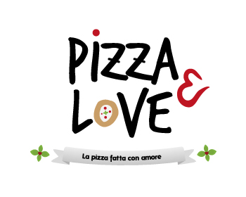 Pizza & Love logo design