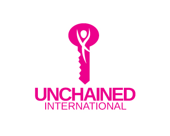 Unchained International logo design