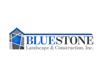 BlueStone Landscape & Construction, Inc. logo design