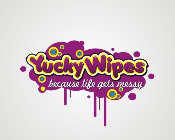 Yucky Wipes logo design