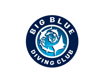 Big Blue Diving Club logo design
