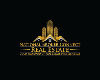 National Broker Connect Real Estate logo design