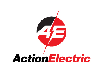 Action Electric logo design