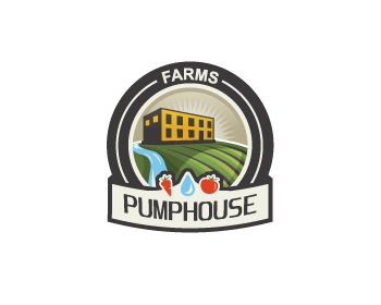 PUMPHOUSE FARMS logo design