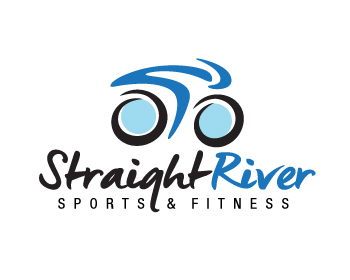 Straight River Sports & Fitness logo design