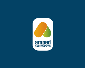 Amped Skateboards logo design