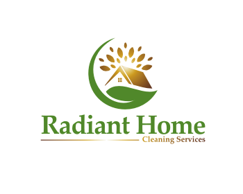Radiant Home Cleaning Services logo design