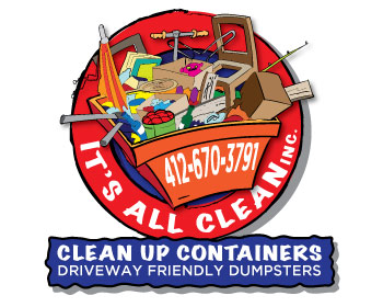 Its All Clean Inc.Clean Up Containers logo design