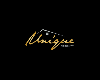 Unique Homes WA logo design