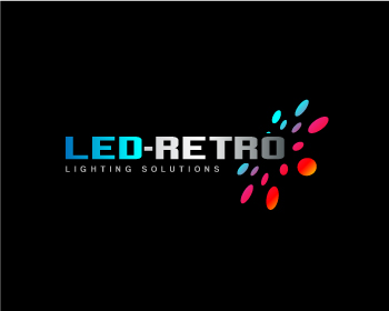 LED-RETRO, Inc. logo design