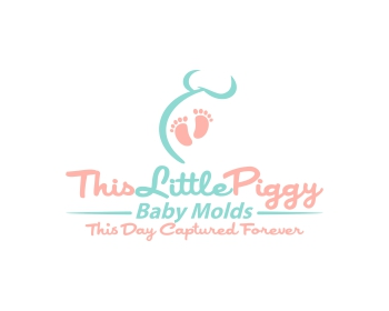 This Little Piggy Baby Molds logo design