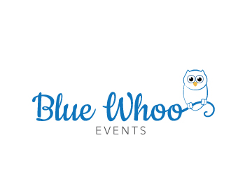 Blue Whoo Events logo design