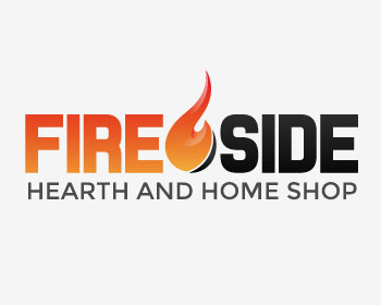 Fireside Hearth and Home Shop logo design