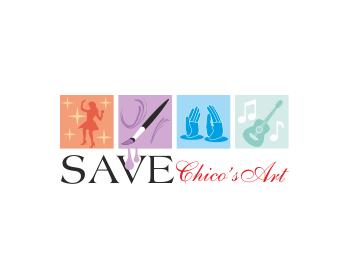 Save Chico's Arts logo design