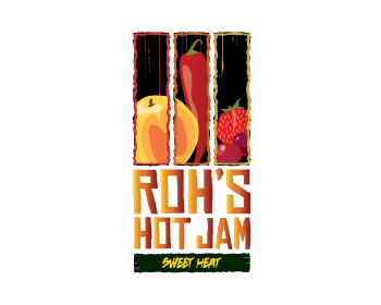Roh's Hot Jam logo design