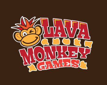 Lava Monkey Games logo design