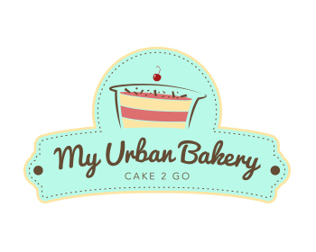 my urban bakery logo design
