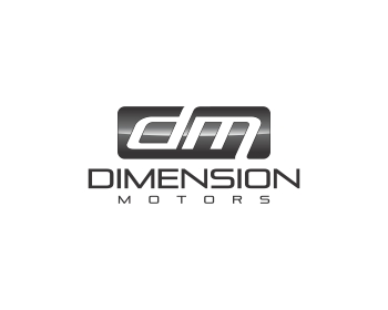 Dimension Motors logo design